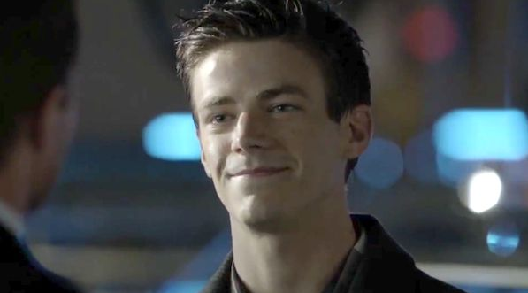 Look at the face! I'd say he is having good time playing our favorite Scarlet Speedster.